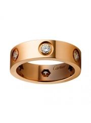cartier love ring pink Gold 6 diamond wide version replica