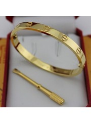 cartier love bracelet yellow gold plated real with screwdriver replica
