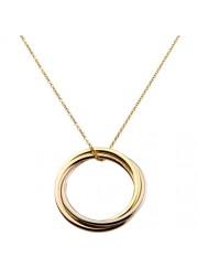 trinity de Cartier yellow gold necklace 3-gold pendant B3041300 replica
