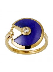 amulette de cartier yellow gold ring Lapis Lazuli diamond B4213700 replica