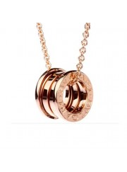 Bvlgari B.ZERO1 necklace pink gold 4 band pendant CL852407 replica