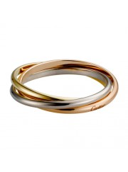 trinity de Cartier 3-gold ring titanium steel 3 rings replica