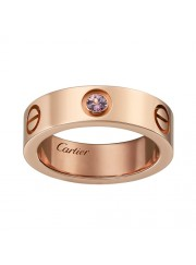 cartier love ring pink Gold pink sapphire wide version replica