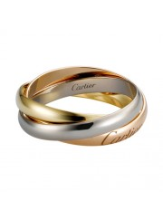 trinity de Cartier 3-gold ring titanium steel small models replica