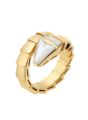 Bvlgari Serpenti ring yellow gold ring with mother of pearl AN855765 replica