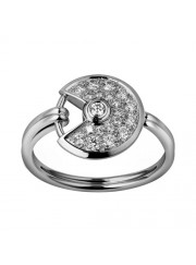 amulette de cartier white gold ring covered diamond B4213550 replica