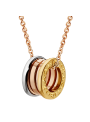 Bvlgari B.ZERO1 necklace 3-gold ring pendant CL857654 replica