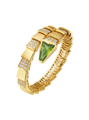 Bvlgari Serpenti Bracelet yellow gold with peridot head and diamonds BR856158 replica