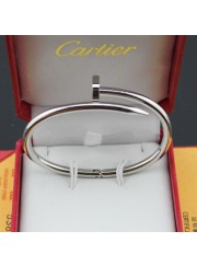 cartier juste un clou plated real 18k white gold bracelet B6037617 replica