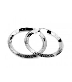 Replica Bvlgari Hoop Earrings in White Gold, Medium