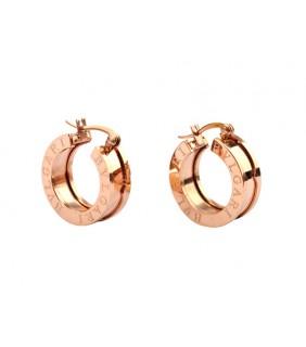 Replica Bvlgari B.ZERO1 Hoop Earrings in Pink Gold, Ref.OR855482