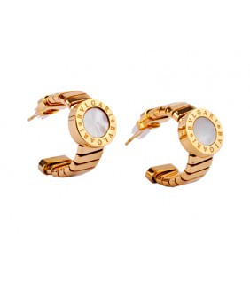 Replica Bvlgari B.ZERO1 Earrings in Pink Gold with Mother of Pea