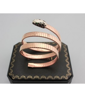 Bulgari SERPENTI Bracelet in Pink Gold with Color Onyx