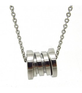 Bulgari B.ZERO1 Pendant in 18kt White Gold with Chain