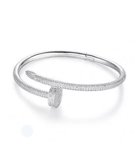 CARTIER JUSTE UN CLOU BRACELET IN WHITE GOLD SET WITH DIAMONDS