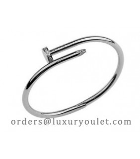 Cartier Juste un Clou Bracelet in 18kt White Gold Diamond-Paved