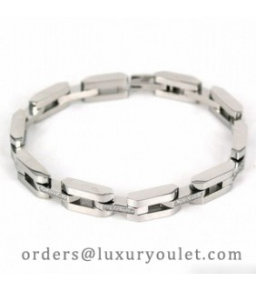 Cartier Mallon Panthere Bracelet, 18k White Gold With Paved-Diamonds