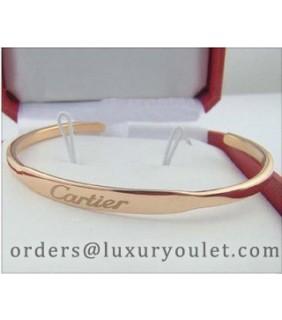 Cartier Pink Gold LOVE Cuff Bracelet