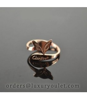 Catier Fox Ring in 18k Pink Gold