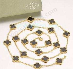 Van cleef & arpels alhambra necklace replica sale in top clover shop
