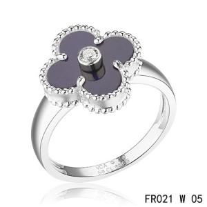 van cleef & arpels clover ring replica