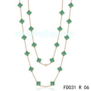 replica van cleef arpels alhambra 20 motif necklace