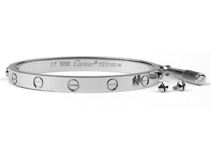 Cartier Love bracelet in white gold