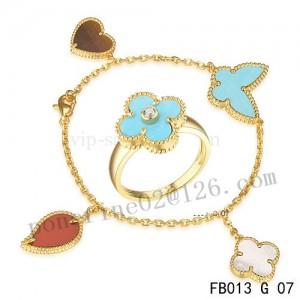 VCA lucky alhambra bracelet and ring