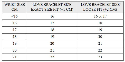 printable tape measure for wrist. cartier-love-bangle-size-chart printable tape measure for wrist