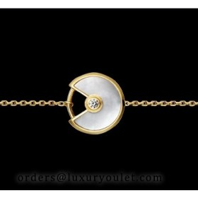 Amulette DE Cartier Bracelet in Pink Gold & Mother of Pearl
