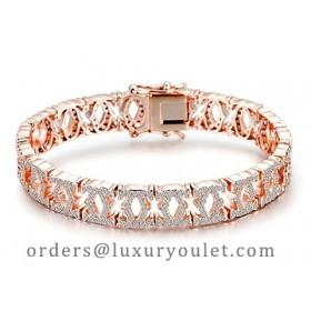 C De Cartier Bracelet in 18kt Rose Gold with Full Paved Diamonds