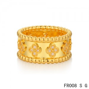 van cleef & arpels perlee clover ring replica offer for you