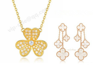van cleef & arpels necklace and earrings set wwholesale