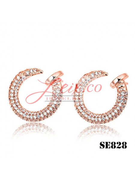 Cartier Juste un Clou Earrings in Pink Gold with Diamonds
