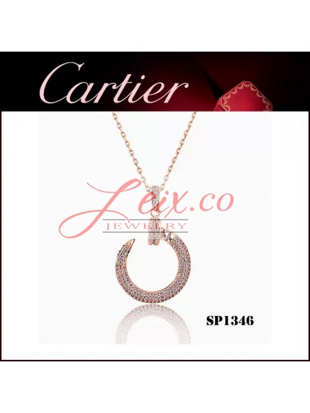 Cartier Juste un Clou Pendant in Pink Gold with Diamonds