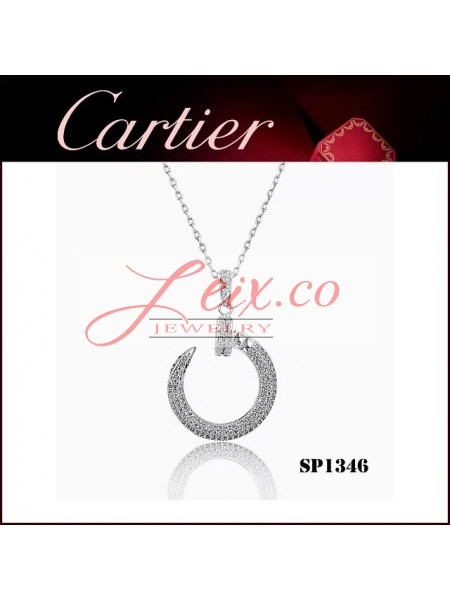Cartier Juste un Clou Pendant in White Gold with Diamonds