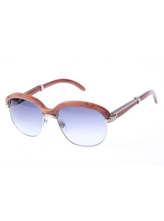 Cartier 1116679 Sunglasses In Silver Grey Gradient
