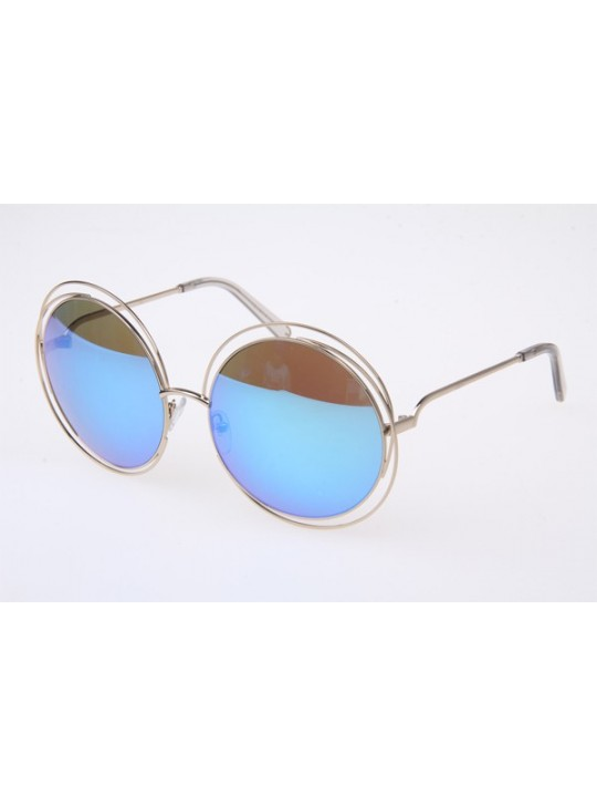 Chloe CE114S Sunglasses In Gold Transparent Blue Miorr Lens