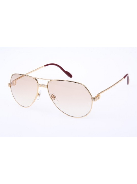 Cartier 1324912 Sunglasses In Gold
