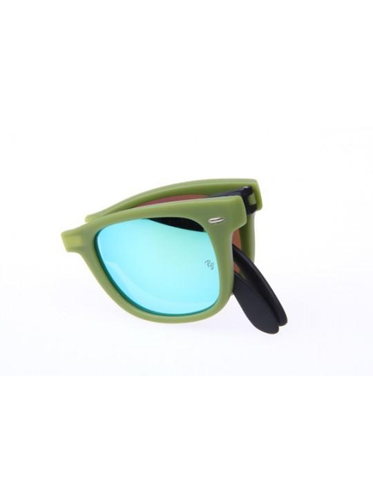 Ray Ban Folding Wayfarer RB4105 50-20 Sunglasses in Green