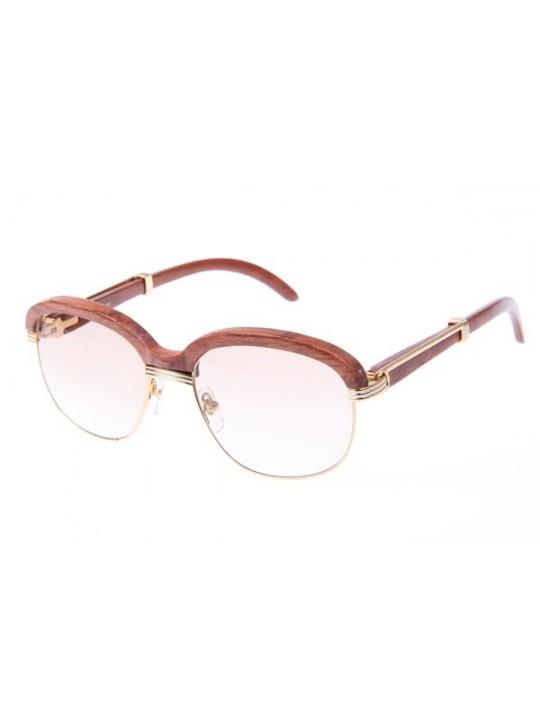 Cartier 1116679 Sunglasses In Gold Brown Gradient