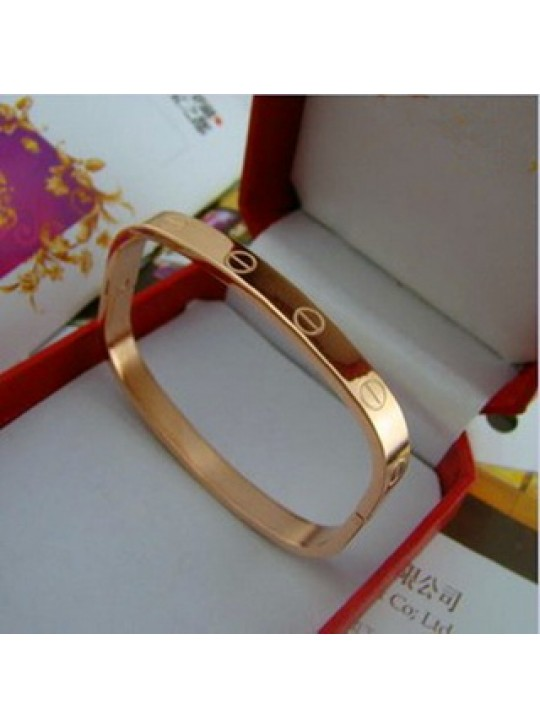 Cartier Love Bangle in 14kt Pink Gold, Square