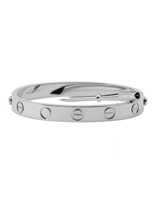 Cartier White Gold LOVE Bracelet for Men+Free Screwdriver (REF: B6035416)