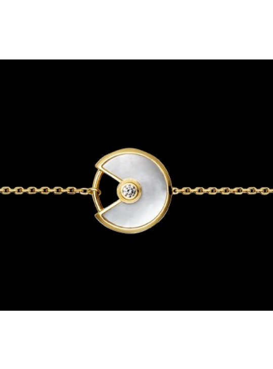 Amulette DE Cartier Bracelet in Pink Gold & Mother of Pearl
