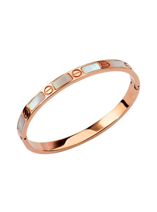 Cartier 18kt Pink Gold Love Bangle with Mother of Pearl
