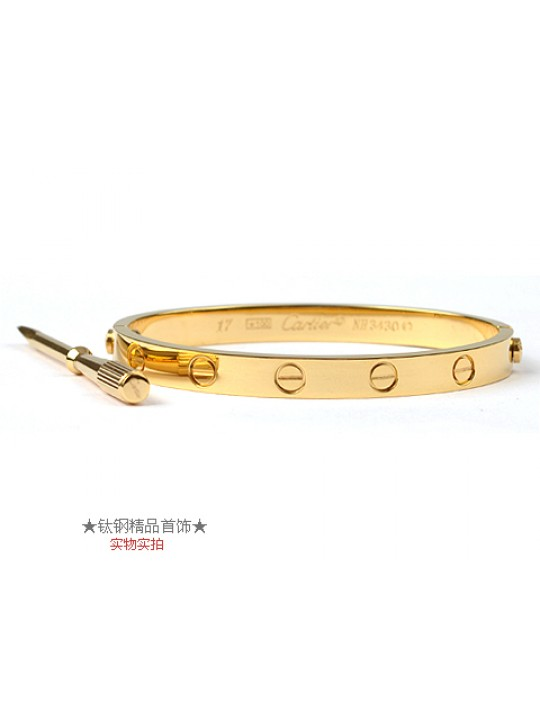 Cartier 18kt Yellow Gold Love Bangle with Screwdriver For Women