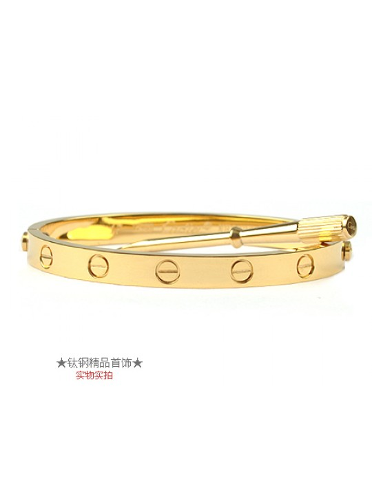 Cartier 18kt Yellow Gold Love Bangle For Men (Narrow)