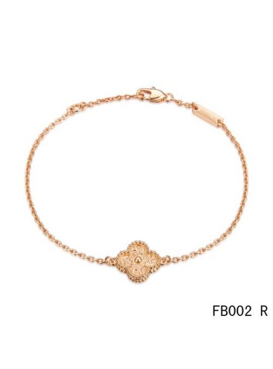 Van Cleef and Arpels Sweet Alhambra Bracelet Pink Gold