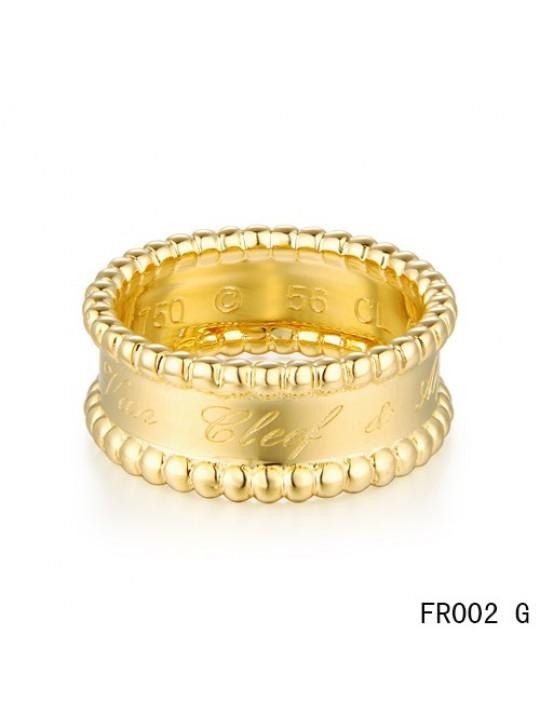 Van Cleef & Arpels Perlee Signature Ring,Yellow Gold