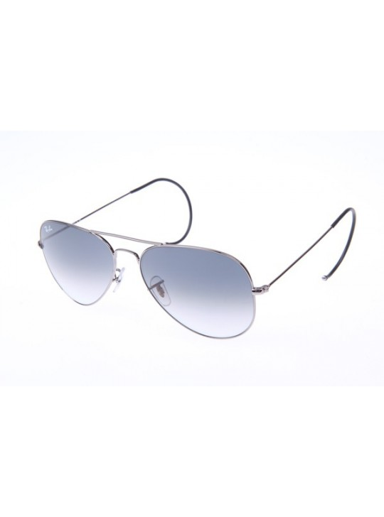 Ray Ban Aviator RB3025M Sunglasses In Gunmetal With Grey Gradient Lens 004 32
